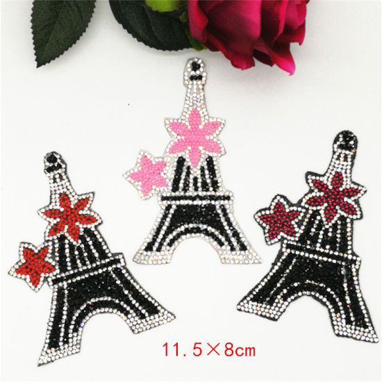 1 Yard Rhinestone Ribbon Roll Iron on Bags Shoes Decorative Patch Appliques