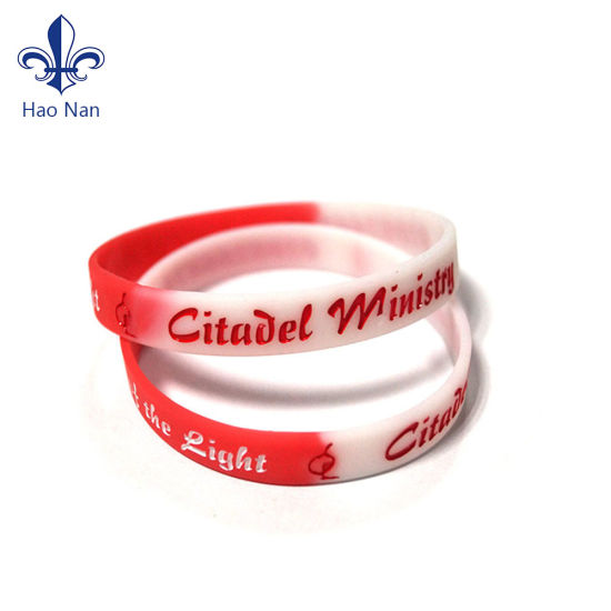Short Sample Time Fashion Festival Bracelet Custom Silicone Wristband pictures & photos