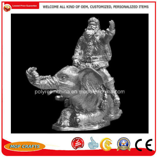 Pewter Alloy Christmas Santa Claus with Elephant Holiday Gifts pictures & photos