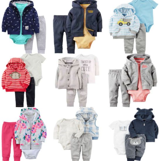 High Quality 3PCS Baby Outfits Boys Girls Clothes Set Jacket Sweatershirts Romper Pants Baby Clothing Sets Ropa Bebes Baby Wears