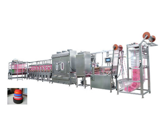 Elastic Laces Continuous Dyeing and Finishing Machine