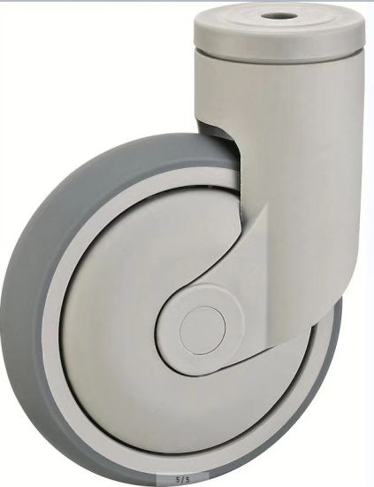 Bolt Hole Type Medical Single Caster Without Brake