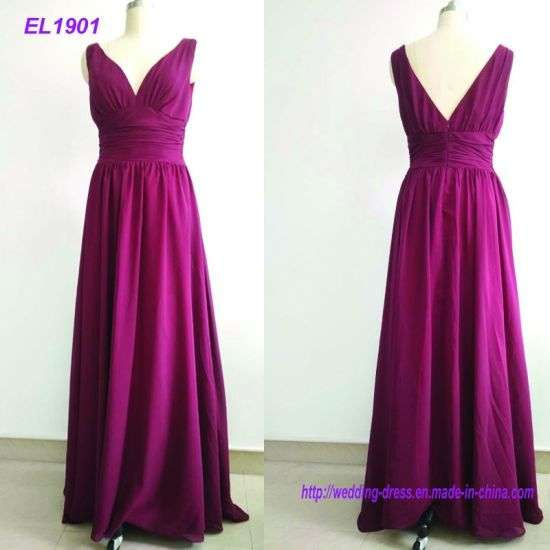 New Arrival A Line Cheap Wedding Party Long Bridesmaid Dresses