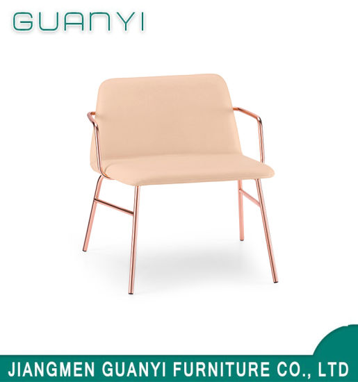 New Modern Metal Rose Golden Plating Chair