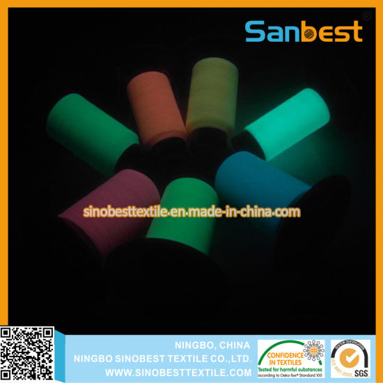 China High Tenacity Glow In Dark Embroidery Thread For Clothes