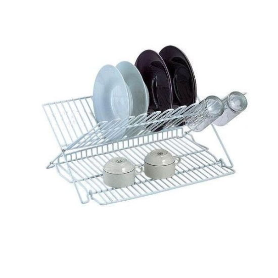 Folding Dish Drying Rack with Drainboard pictures & photos