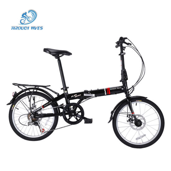 20 Inch Carbon Steel Quick Folding Bike Mini Portable Bicycle for Adults