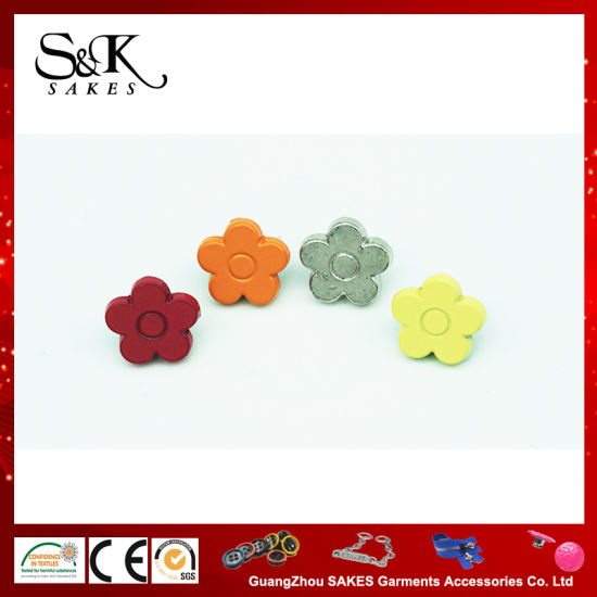 Flower Shape Metal Alloy Snap Button for Baby Cloth