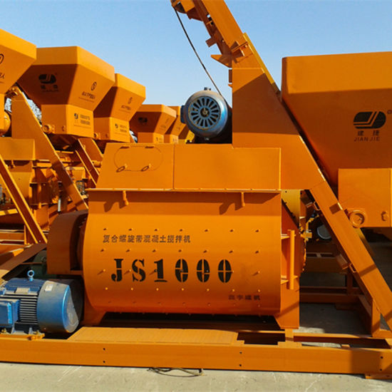 (JS1000) Double Horizontal Axle Force Concrete Mixer pictures & photos