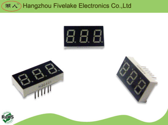 "0.4"" Triple Digits 7 Segment LED Display (WD04031-A/B) pictures & photos"