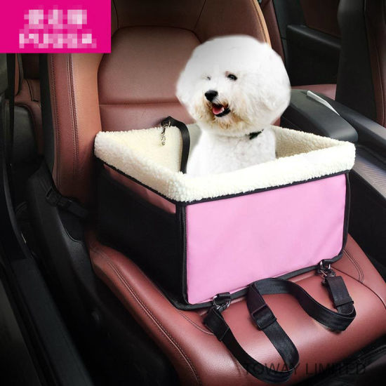 Washable Coral Fleece Pet Carrier Dog Car Seat Bag Cover
