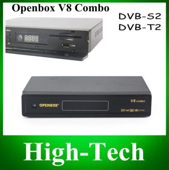 [Hot Item] Original Openbox V8 Combo Satellite Receiver DVB-S2+DVB-T2  Support Cccamd Newcamd Youtube Youporn Google Map USB WiFi Dlna