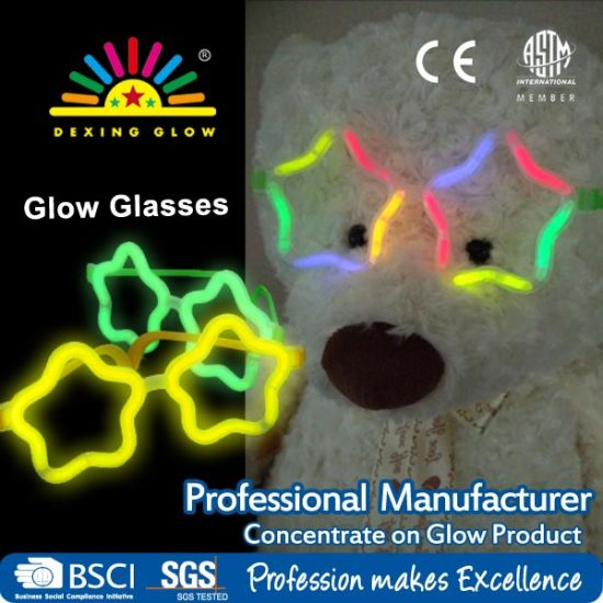 China Multi Color Glow Sticks Star Shaped Glasses Light Party Glow