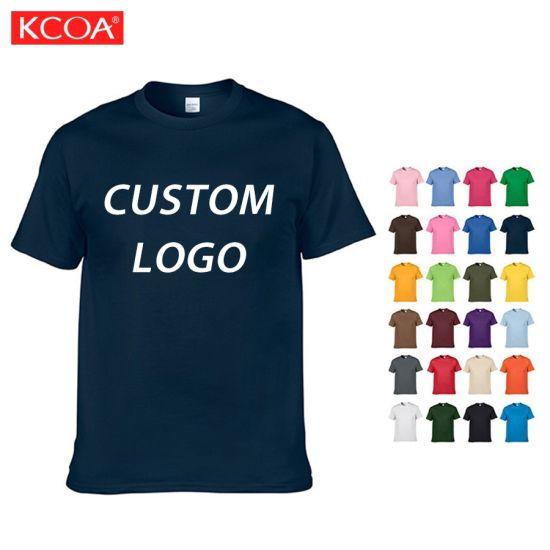 OEM High Quality 100 Cotton Blank Customized Logo Printing Men Tee Shirt