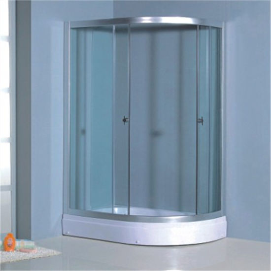Chrome Simple Sliding Square Clear Glass Shower Cubicle Size pictures & photos