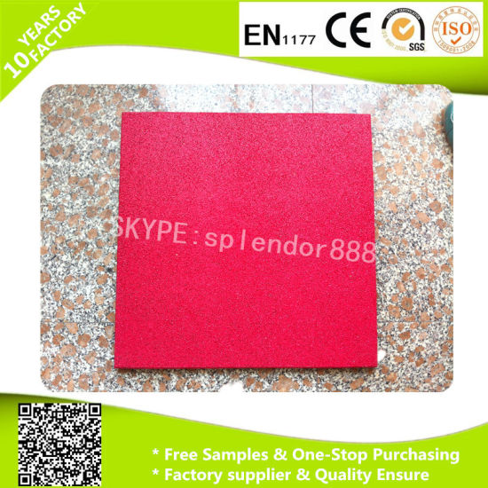 Gyms Courts Outdoor Rubber Tile Flooring for Sports Playground Mat pictures & photos