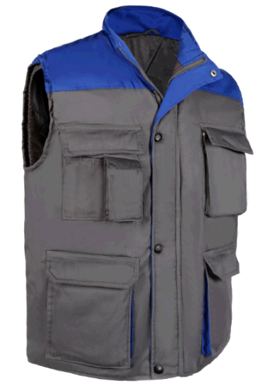 Mens Spoty High Collar Sleeveless Workwear Vest pictures & photos