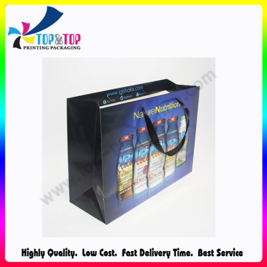 Fashion Portable Cmyk Printing Paper Custom Makeup Bag pictures & photos
