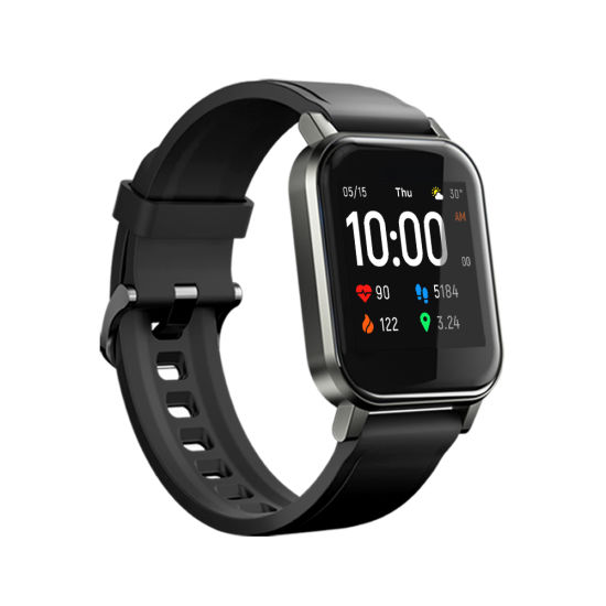 """Haylou Ls02 Smartwatch 1.4"""", 260mAh, Bluetooth 5.0, IP68 Waterproof, Fitness Tracker Call Reminder with Haylou APP Wrist Watch"""