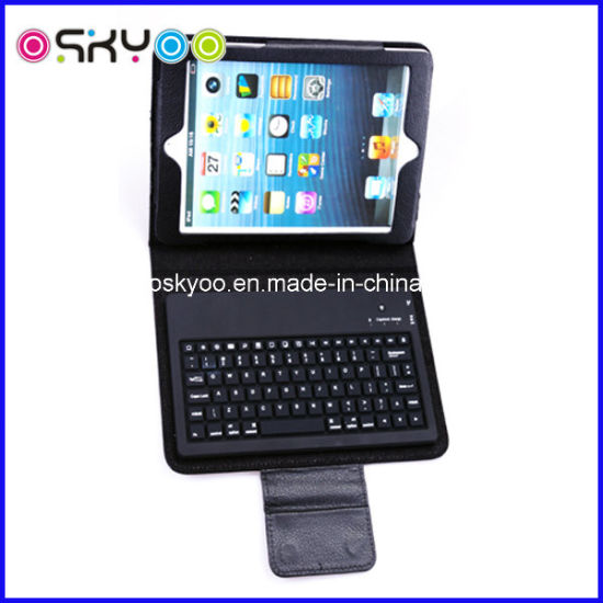 Wireless Bluetooth Keyboard for iPad Mini Leather Case pictures & photos