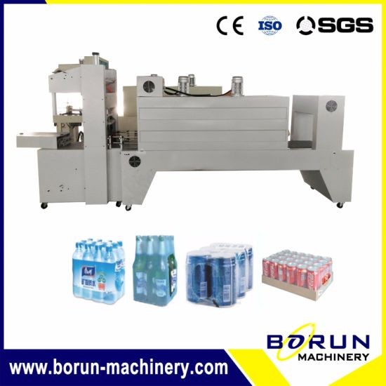 Semi Automatic Film Shrink Wrapping Machine for Plastic Bottles