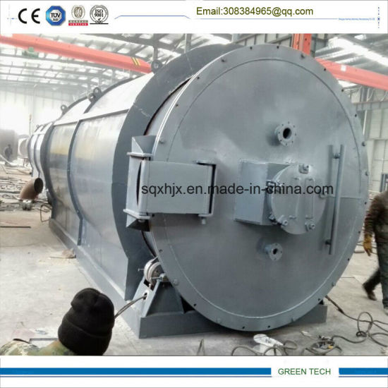 Full Open Doopr 10 Ton Tire Pyrolysis Oil Making Machine pictures & photos