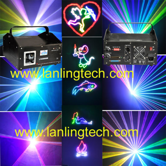 1W RGB Animation Stage Laser Light for Nightclub/Christmar Party