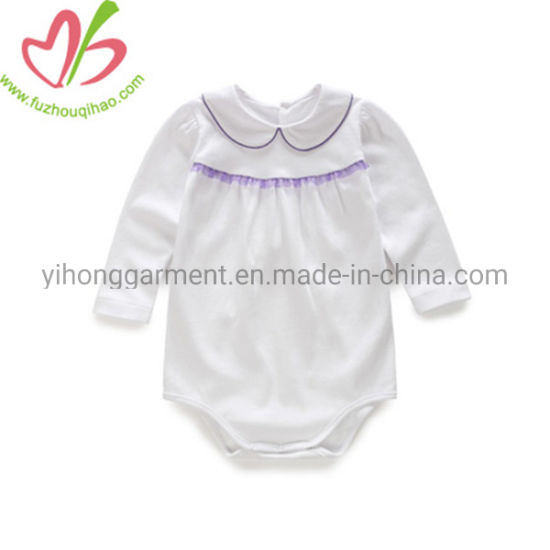 adc7011fb China Peter Pan Collar Long Sleeves Baby Jumpersuit Babysuit Romper ...