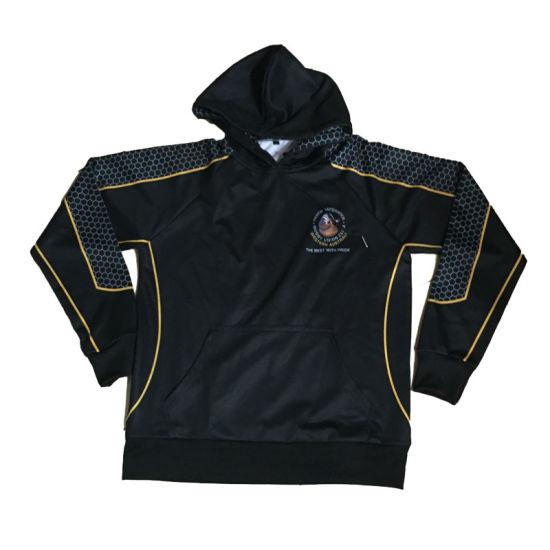 Sublimation Black Design Polar Fleece Hoodies Jacket