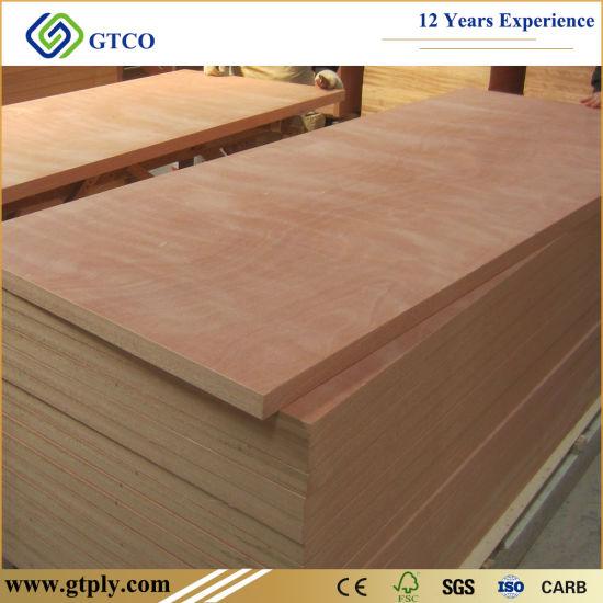 3mm Flat Ash Okoume Mahogany Veneer Plywood for Room Door Skin
