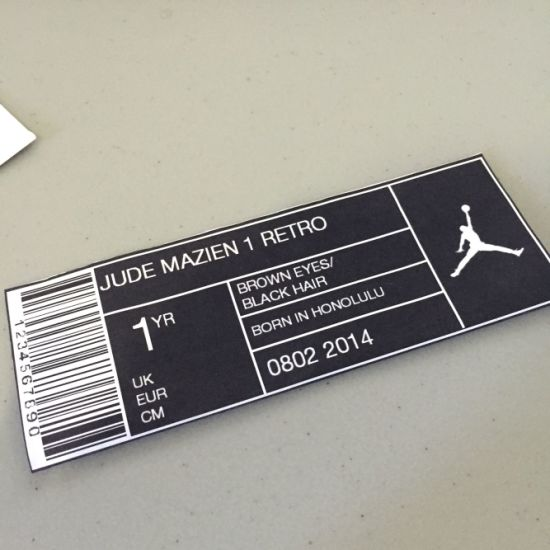 Hot Sale Promotional Adhesive Shoe Box Label Template Label Sticker
