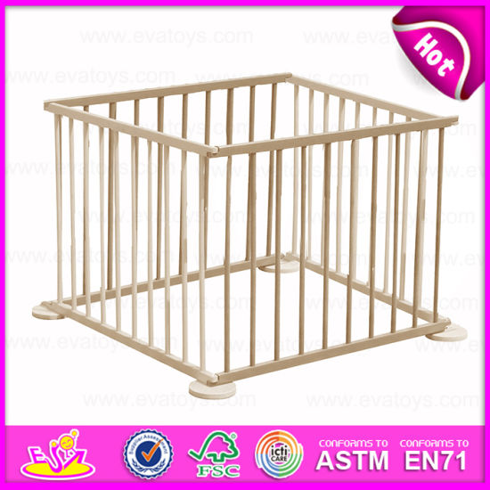 2015 Folding Wooden Safety Playpen, Wooden Baby Furniture Baby Playpen Wooden, Hot Selling Wooden Square Playpen for Baby W08h008