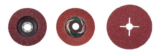 """4-1//2/"""" RESIN FIBER SANDING DISC Zirconia 80 Grit Grinding Discs 100 Pack"""