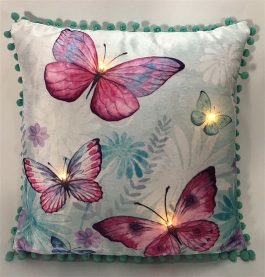 Easter Decorative LED Light up Printed Cushion Cover
