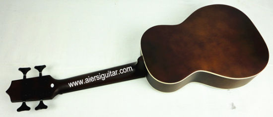 Aiersi Brown Color All Solid Body Electrical Acoustic U-Bass Ukulele pictures & photos