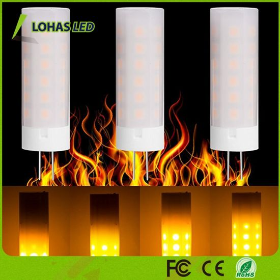2W G4 LED Fire Effect Light Bulb 12V Flickering LED Flame Lamp 1700K Nature Fire Light Bulb for Christmas pictures & photos