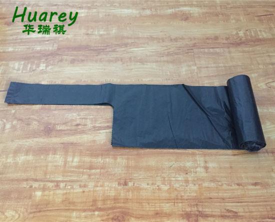 Wholesale Custom Thickness Black Green PE Plastic Garbage Trash Bag