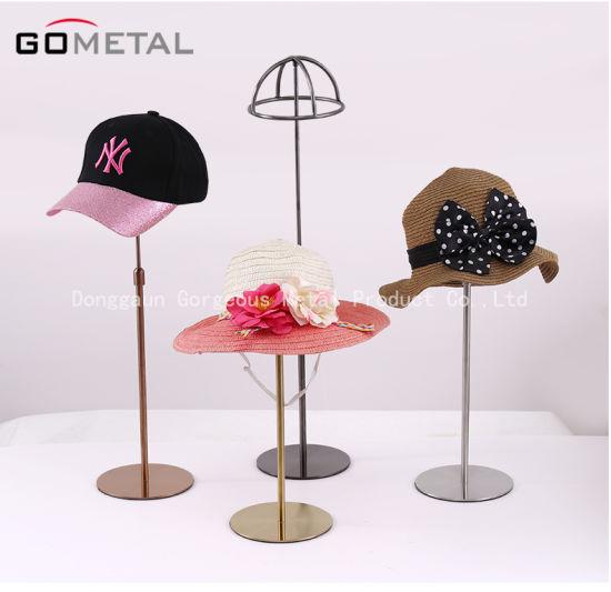 Custom Metal Adjustable Hat Cap Display Storage Rack for Retail Exhibition Use