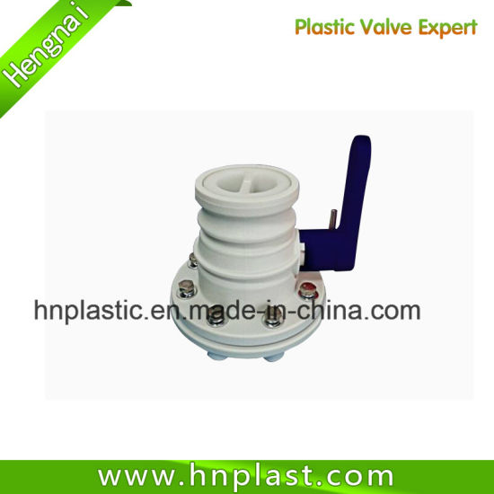 "Plastic Pph 3"" Bolted Flexitank Butterfly Valve"