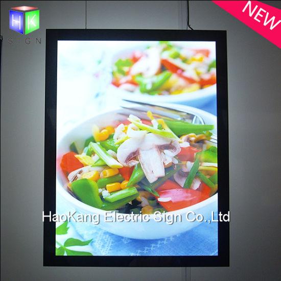 China Aluminum Magnetic LED Backlit Poster Frame Light Box Menu for ...