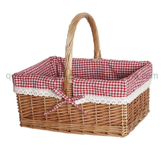 OEM Hot Sale Outdoor Wicker Cane Rattan Storage Picnic Basket
