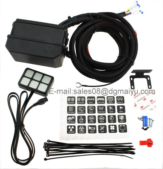 Universally Adaptable DC12V LED 6 Switch Panel Electronic Relay System on