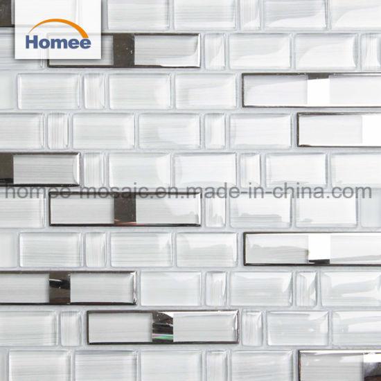 Simple Style On Backsplash Decorative Kitchen Purple Gl Mosaic Tile