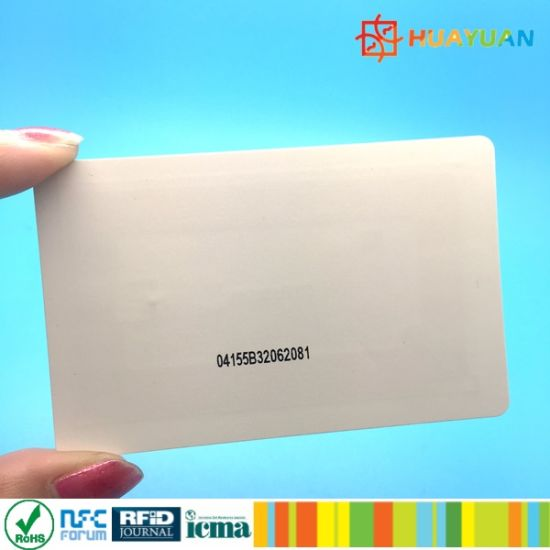 Employee Contactless ID card MIFARE Plus X 4K smart Plastic RFID Card pictures & photos