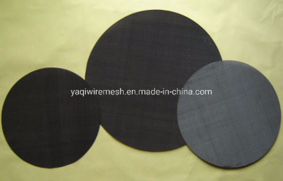 Iron Plain Steel Black Wire Cloth Stainless Steel Filter Disc Factory pictures & photos