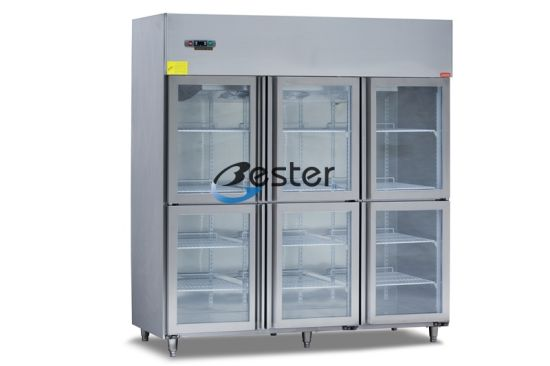 Commercial Refrigerator Six Glass Door Cabinet At Restaurant Gn1 1