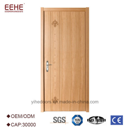 China Modern Simple Flush Solid Wooden Interior Door China Mdf
