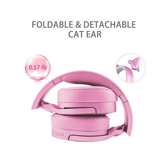 China Somic Sc2000 Pink Cat Ear Wireless Bluetooth Gaming Headphones Headset With Microphone Mobile Phone Accessories China Headphone And Headphones Price