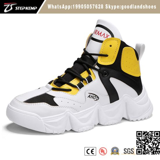 Hot Sale Quality Injection Shoes Men High Top Sport Shoes Outdoor Running Shoes High Quality 9324