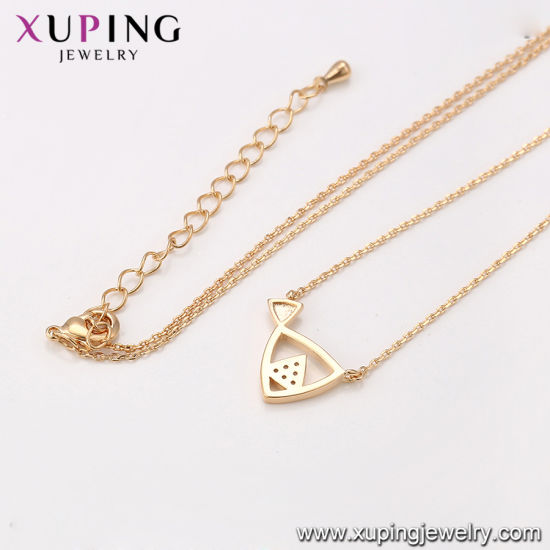 44025 Xuping Fashion Necklace 18K Gold Color Lantern Decoration pictures & photos